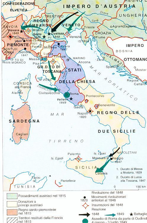 Cartina Italia Prima Dell Unificazione.Bibliolab I Problemi Dell Italia Unita